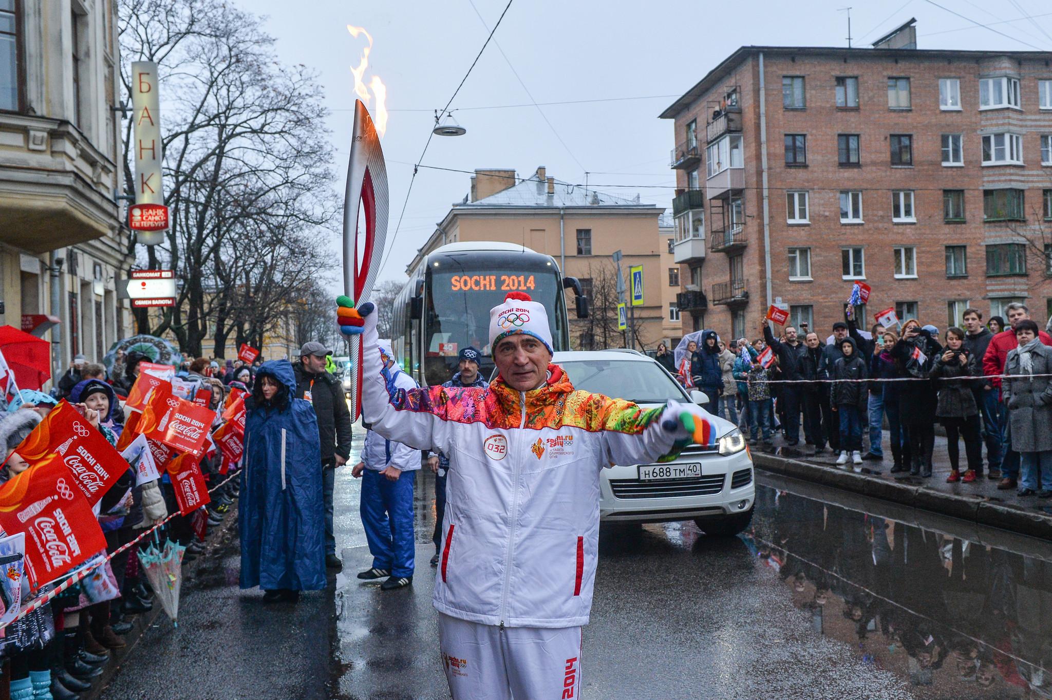 схема эстафеты олимпийского огня сочи 2014
